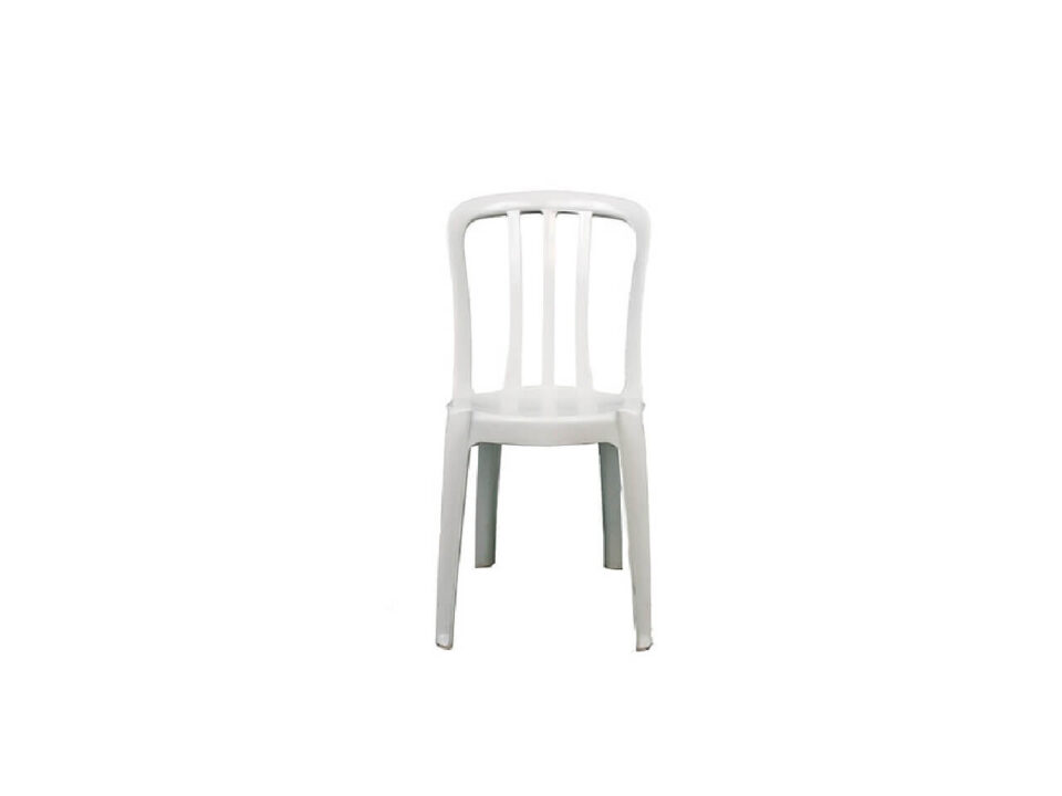 Cadeira de Pvc Branca sem Braço